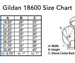 gildan18600sizechart 247x208 - Custom Acid Just Drop It Pullover Hoodie