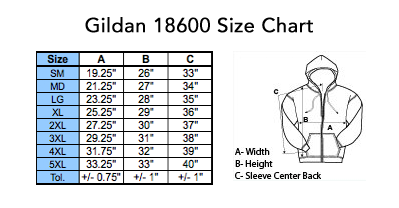 gildan18600sizechart - Cheap Graphic Moon Five Pullover Hoodie