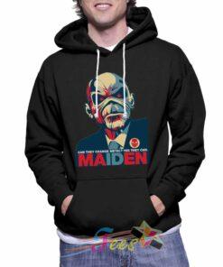 custom maiden pullover hoodie