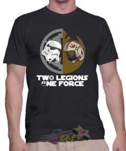 Cheap Two Legions One Force Graphic Tees On Sale