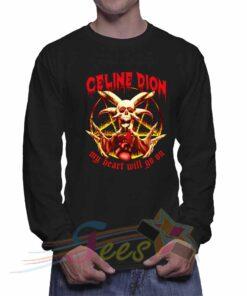 Cheap Graphic Celine Dion My Heart Will Go On Sweatshirt