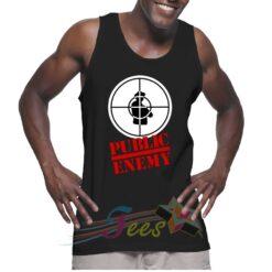 Cheap Graphic Tank Top Public Enemy Logo