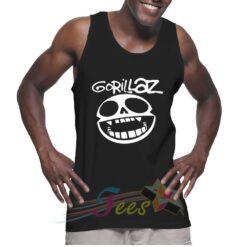 Cheap Graphic Tank Top Smile Logo Gorillaz