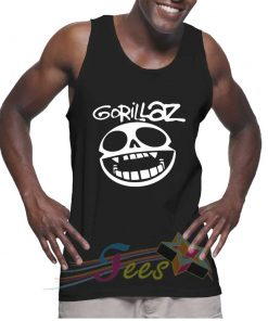 Cheap Graphic Tank Top Smile Logo Gorillaz