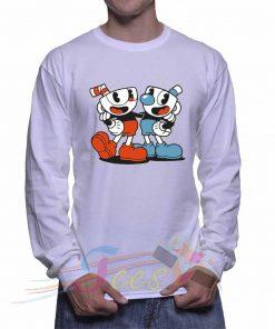 Cheap Graphic Cuphead Mugman Sweatshirt