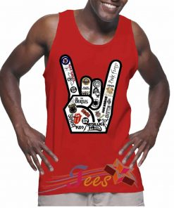 Cheap Graphic Tank Top Metal Finger Logo