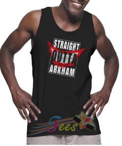 Cheap Graphic Tank Top Straight Outta Arkham