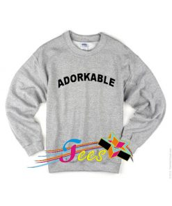 Cheap Graphic Adorkable Sweatshirt