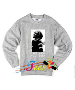 Cheap Graphic Bob Marley Lively Up Sweatshirt