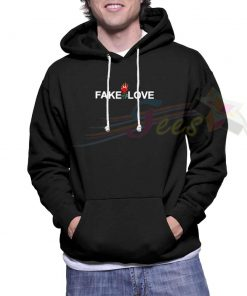 Cheap Graphic Fake Love Pullover Hoodie