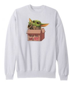 Baby Yoda In A Box Sweatshirt