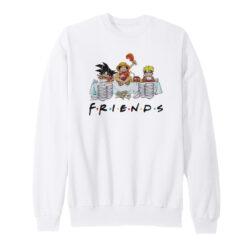 Anime Friends Son Goku Luffy Naruto Sweatshirt