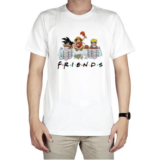 Anime Friends Son Goku Luffy Naruto T-Shirt