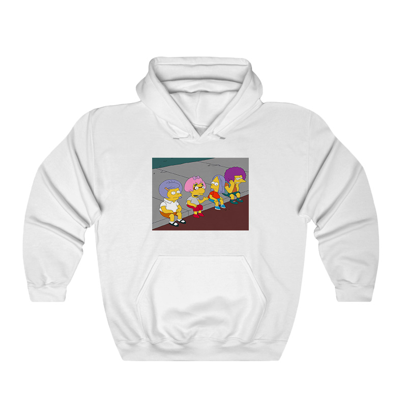 Bart On The Road Hoodie - Home