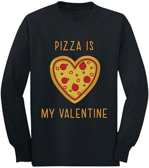 Pizza Is My Valentine Funny Valentines Day Unisex Hoodie