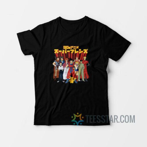 90s Anime Super Friends T-Shirt