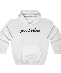 Good Vibes Cool Lettering Design Hoodie