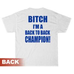 Tampa Fuckin' Bay Bitch I'm Back To Back Champion T-Shirt