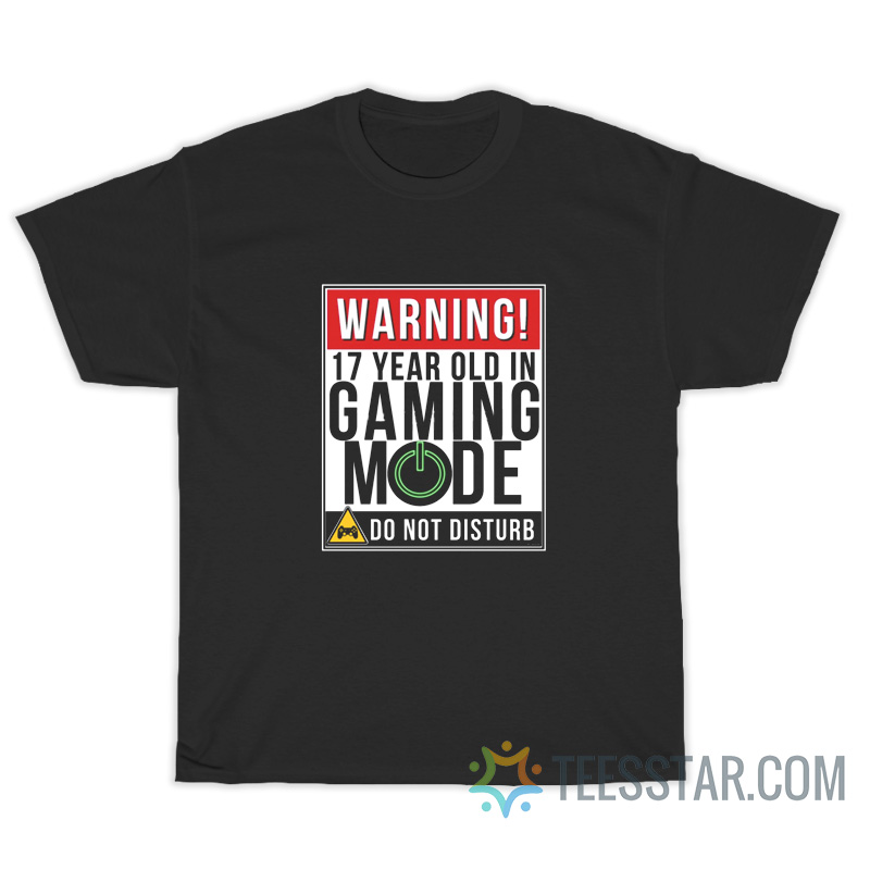 Warning 17 Year Old In Gaming Mode Do Not Disturb T-Shirt