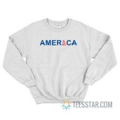 America Star Hands Pray Gun Sweatshirt