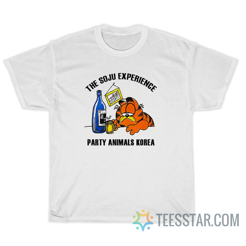 The Soju Experience Party Animals Korea T-Shirt For Unisex